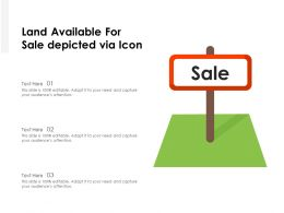 Land Available For Sale Depicted Via Icon