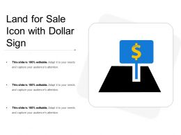 Land For Sale Icon With Dollar Sign