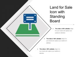 Land For Sale Icon With Standing Board