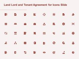 Land Lord And Tenant Agreement For Icons Slide Ppt Powerpoint Presentation Outline Image