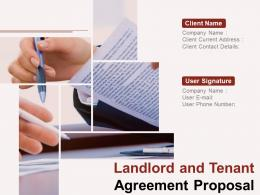 Land Lord And Tenant Agreement Proposal Powerpoint Presentation Slides