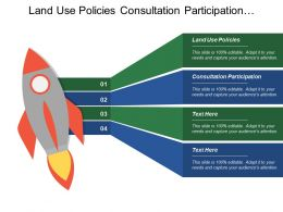 Land Use Policies Consultation Participation Investment Viability Participatory Planning
