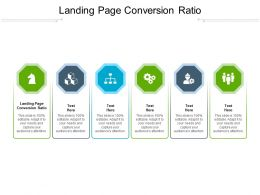 Landing Page Conversion Ratio Ppt Powerpoint Presentation Professional Gridlines Cpb