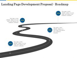 Landing Page Development Proposal Roadmap Ppt Powerpoint Presentation Example