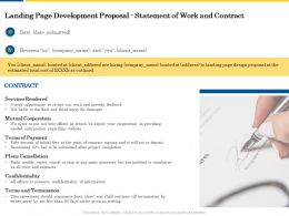 Landing Page Development Proposal Statement Of Work And Contract Ppt Powerpoint Maker
