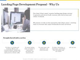 Landing Page Development Proposal Why Us Ppt Powerpoint Presentation Portfolio Display