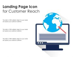 Landing Page Icon For Customer Reach
