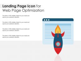 Landing Page Icon For Web Page Optimization