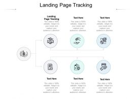 Landing Page Tracking Ppt Powerpoint Presentation Outline Guidelines Cpb