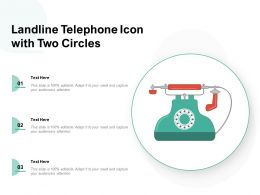 Landline Telephone Icon With Two Circles
