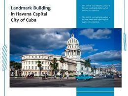 Landmark Building In Havana Capital City Of Cuba