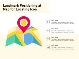 Landmark Positioning At Map For Locating Icon