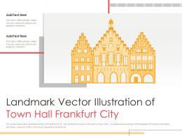 Landmark Vector Illustration Of Town Hall Frankfurt City Powerpoint Presentation PPT Template