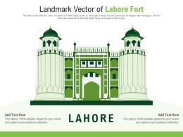 Landmark Vector Of Lahore Fort Powerpoint Presentation PPT Template