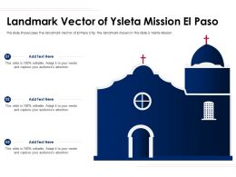 Landmark Vector Of Ysleta Mission El Paso Ppt Template