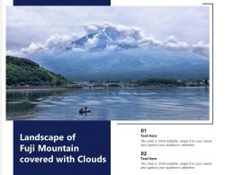 Landscape Of Fuji Mountain Covered With Clouds