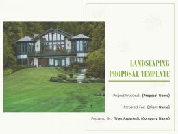 Landscaping Proposal Template Powerpoint Presentation Slides