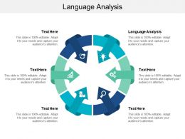 Language Analysis Ppt Powerpoint Presentation Layouts Infographics Cpb