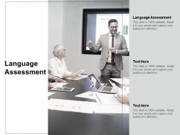 Language Assessment Ppt Powerpoint Presentation Icon Picture Cpb