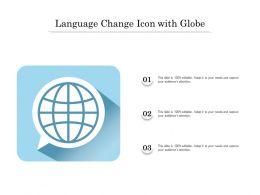Language Change Icon With Globe