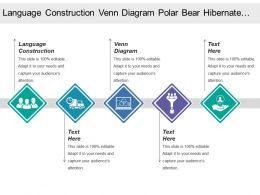 Language Construction Venn Diagram Polar Bear Hibernate Winter