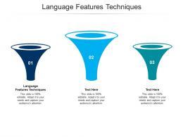 Language Features Techniques Ppt Powerpoint Presentation Infographics Infographics Cpb