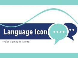 Language Icon Communication Globe Speech Bubble Interpreter Translation Direction