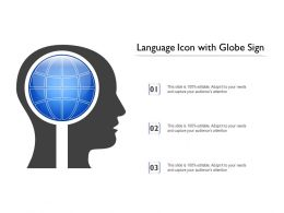 Language Icon With Globe Sign