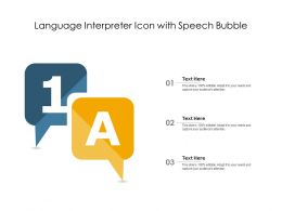 Language Interpreter Icon With Speech Bubble