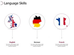 Language Skills English French Ppt Powerpoint Presentation Infographics Templates