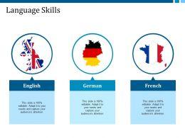 language_skills_english_german_french_ppt_summary_slide_portrait_Slide01
