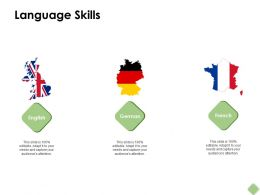 Language Skills English German Ppt Powerpoint Presentation Pictures Background