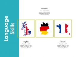 Language Skills German English Ppt Powerpoint Presentation Infographics Diagrams
