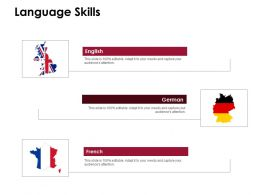 Language Skills German French D222 Ppt Powerpoint Presentation Infographic Template Pictures