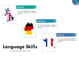 Language Skills Powerpoint Layout Ppt Slide Examples