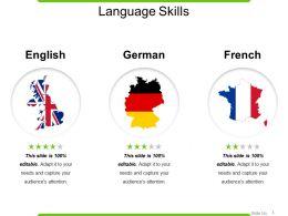 Language Skills Powerpoint Slide Backgrounds