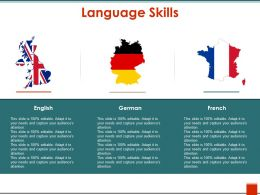 Language Skills Ppt Design