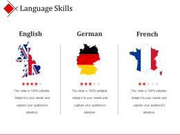 Language Skills Ppt Design Templates
