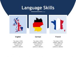 Language Skills Ppt Layouts Visuals