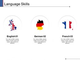 Language Skills Ppt Powerpoint Presentation Show Objects