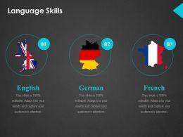 Language Skills Ppt Show
