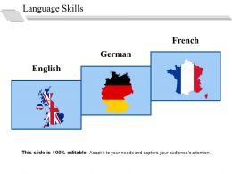 Language Skills Ppt Summary Graphic Tips