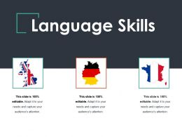 Language Skills Ppt Summary Slides