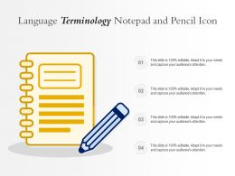 Language Terminology Notepad And Pencil Icon