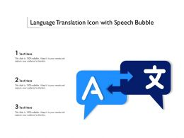 Language Translation Icon With Speech Bubble
