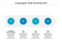 Languages Web Development Ppt Powerpoint Presentation Icon Backgrounds Cpb