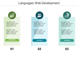 Languages Web Development Ppt Powerpoint Presentation Model Example Cpb
