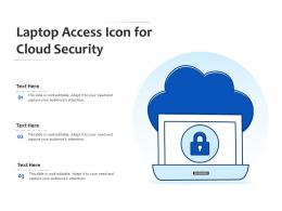 Laptop Access Icon For Cloud Security