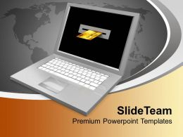 Laptop And Credit Card Finance Concept PowerPoint Templates PPT Themes And Graphics 0213