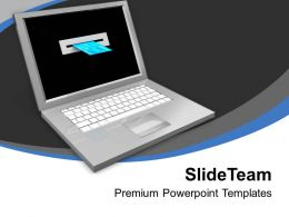 Laptop And Credit Card Online Shopping Powerpoint Templates PPT Themes And Graphics 0213